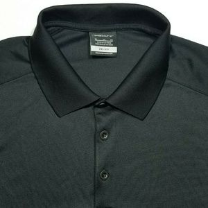 XL NIKE GOLF Dri-Fit Short sleeve Black Polo Shirt